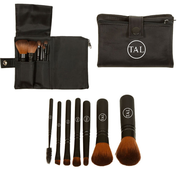 Vegan Brown Faux Mini Brush Set