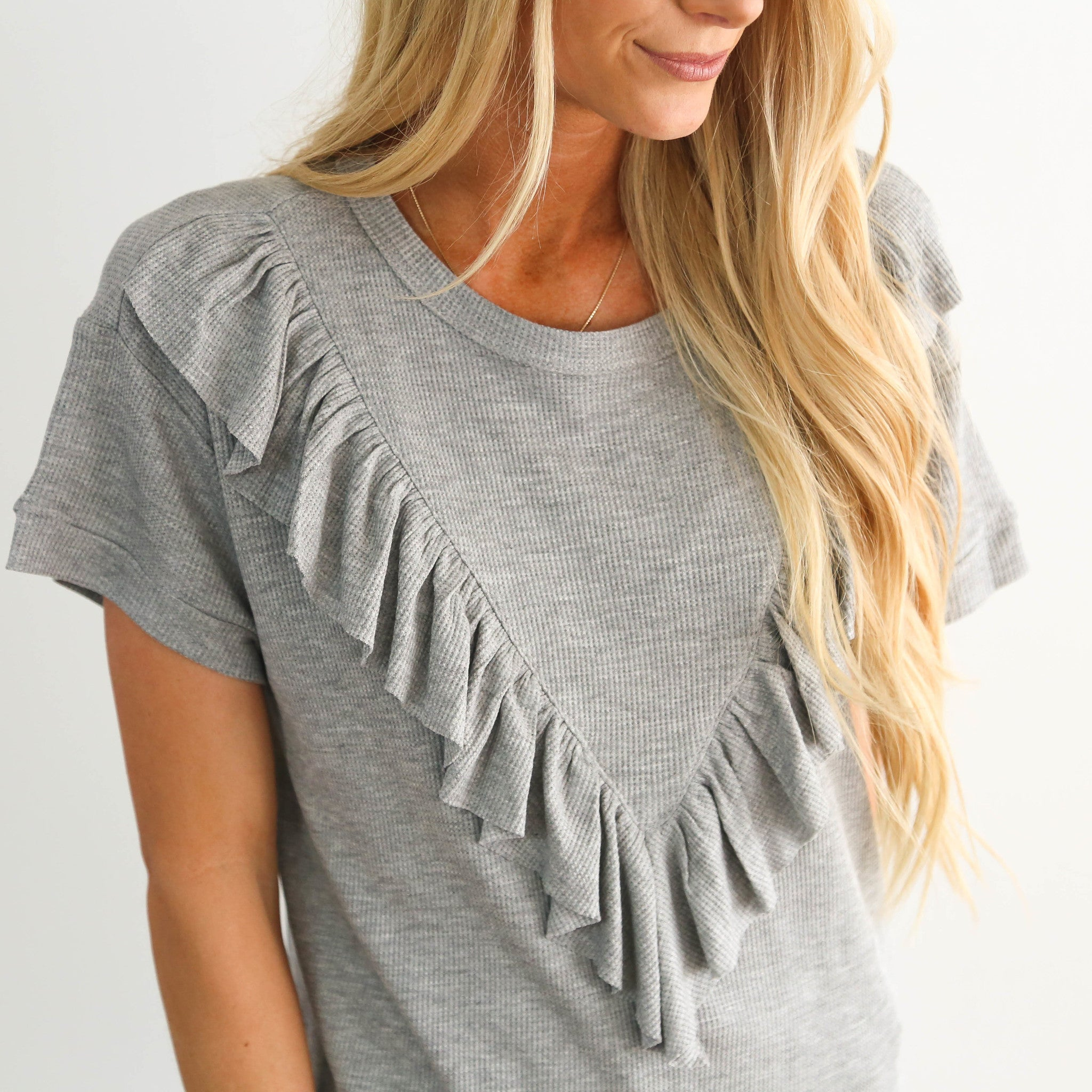 S & Co. Renee Ruffle Top