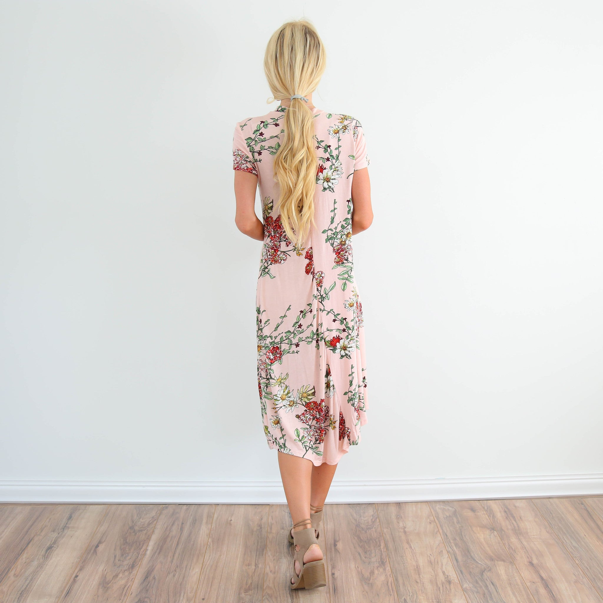 Sidella Printed Dress in Blush