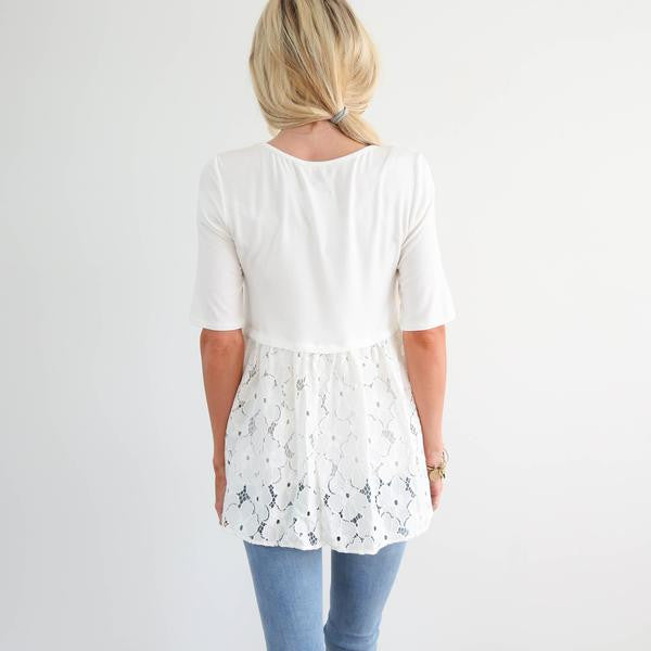 S & Co. Flower Lace Top