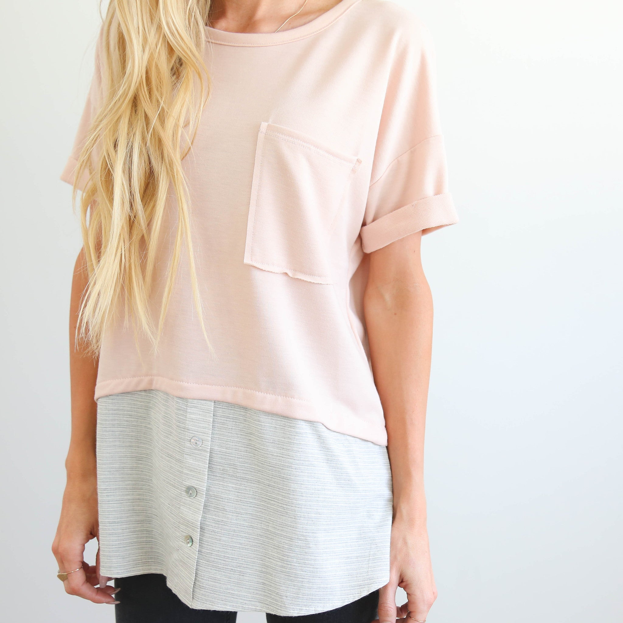 Callie Two-Tone Top