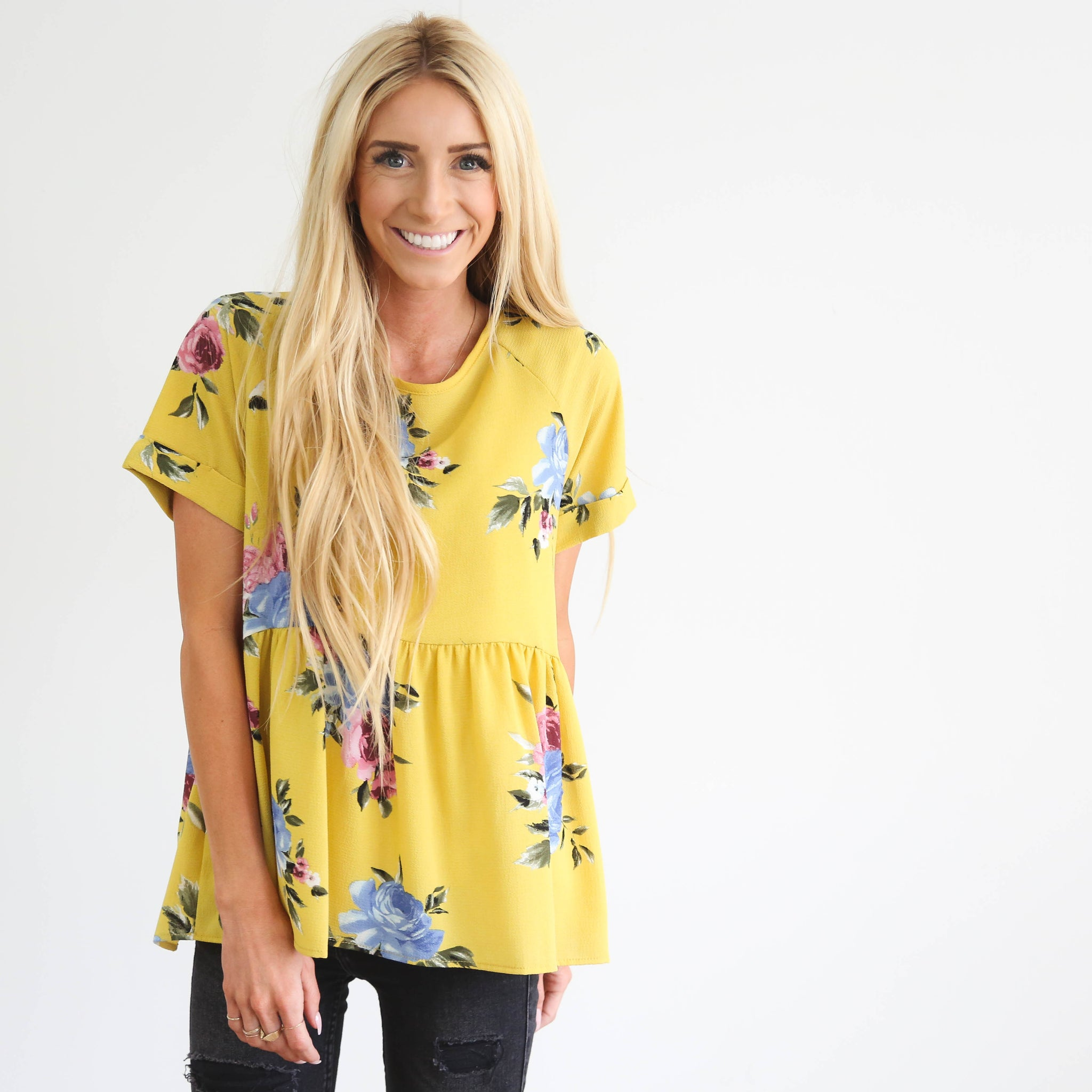 Caprea Top in Yellow
