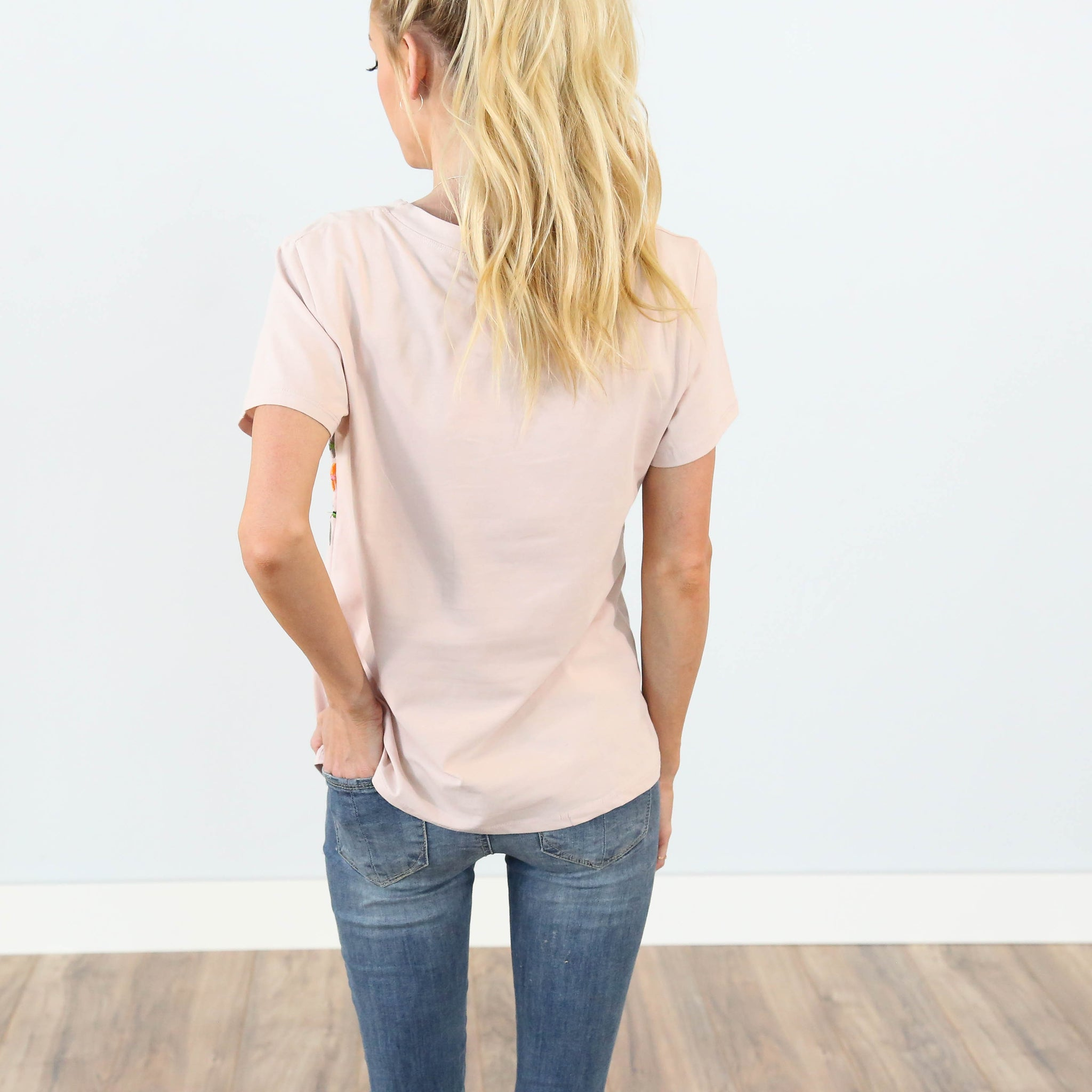 Lillian Embroidered Tee