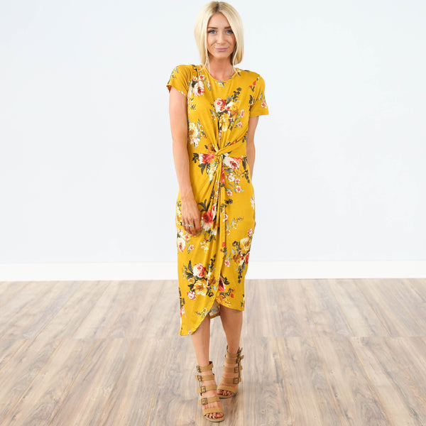 Michael Floral Knot Dress