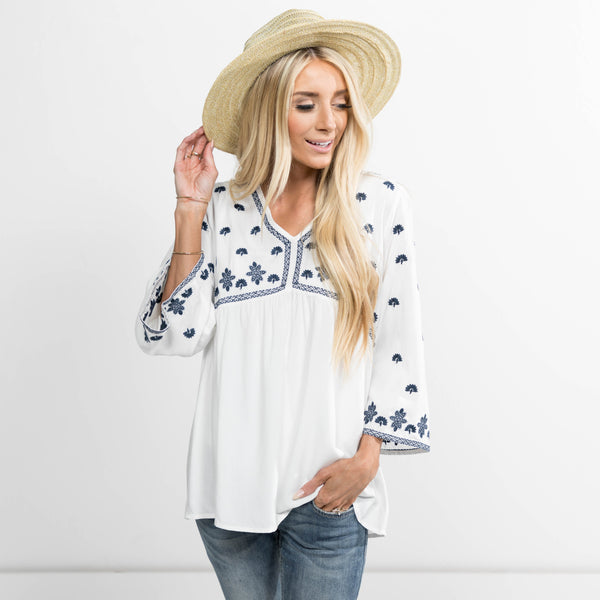 Kimberly Embroidered Top