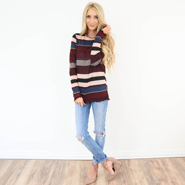Andrea Stripe Top