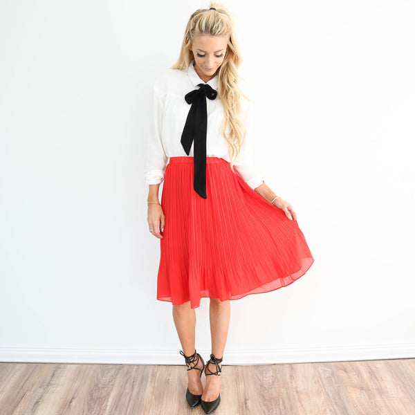 Forever Pleated Skirt