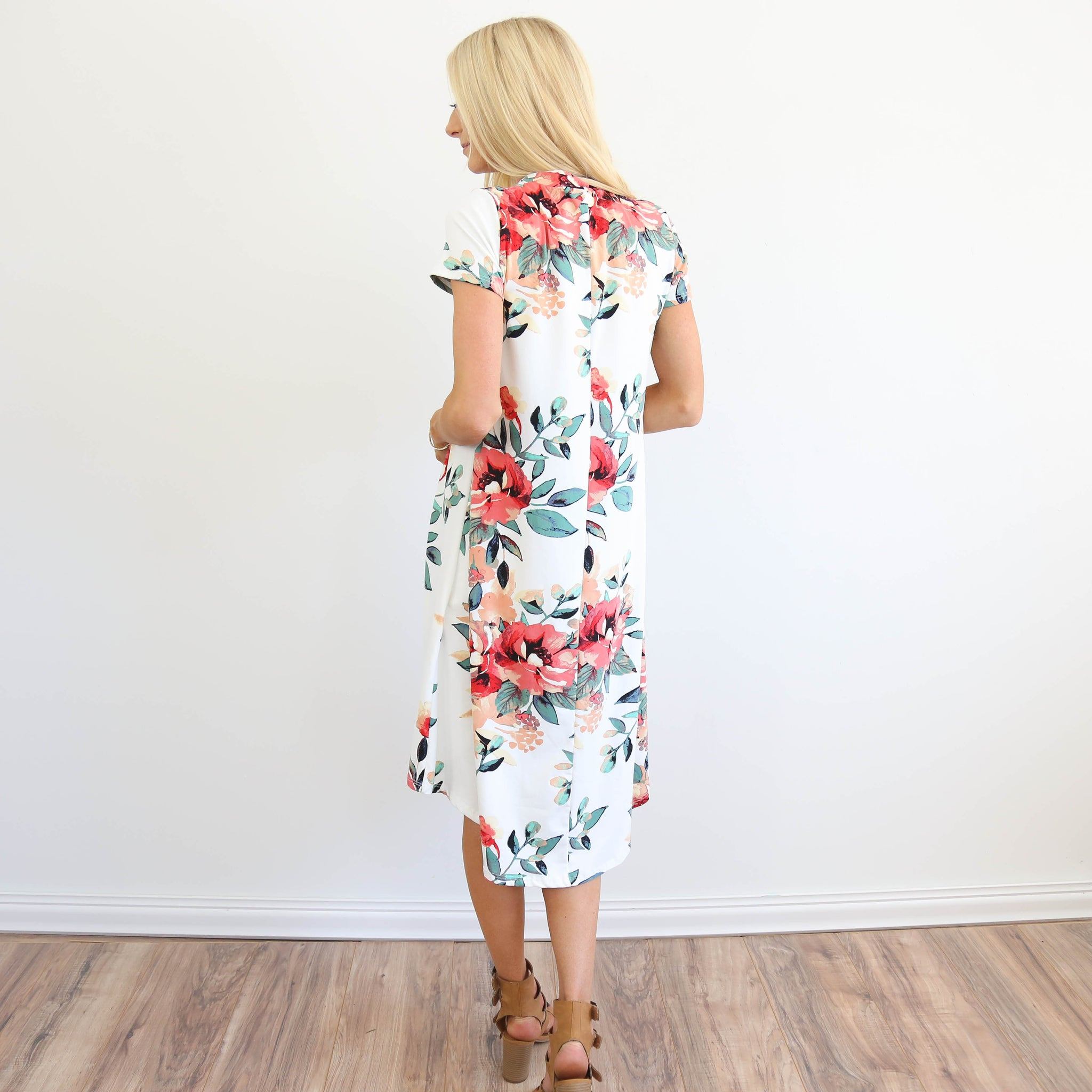 Monroe Floral Midi in Ivory
