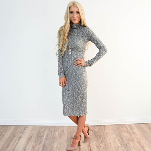 Knitted Turtle Neck Dress
