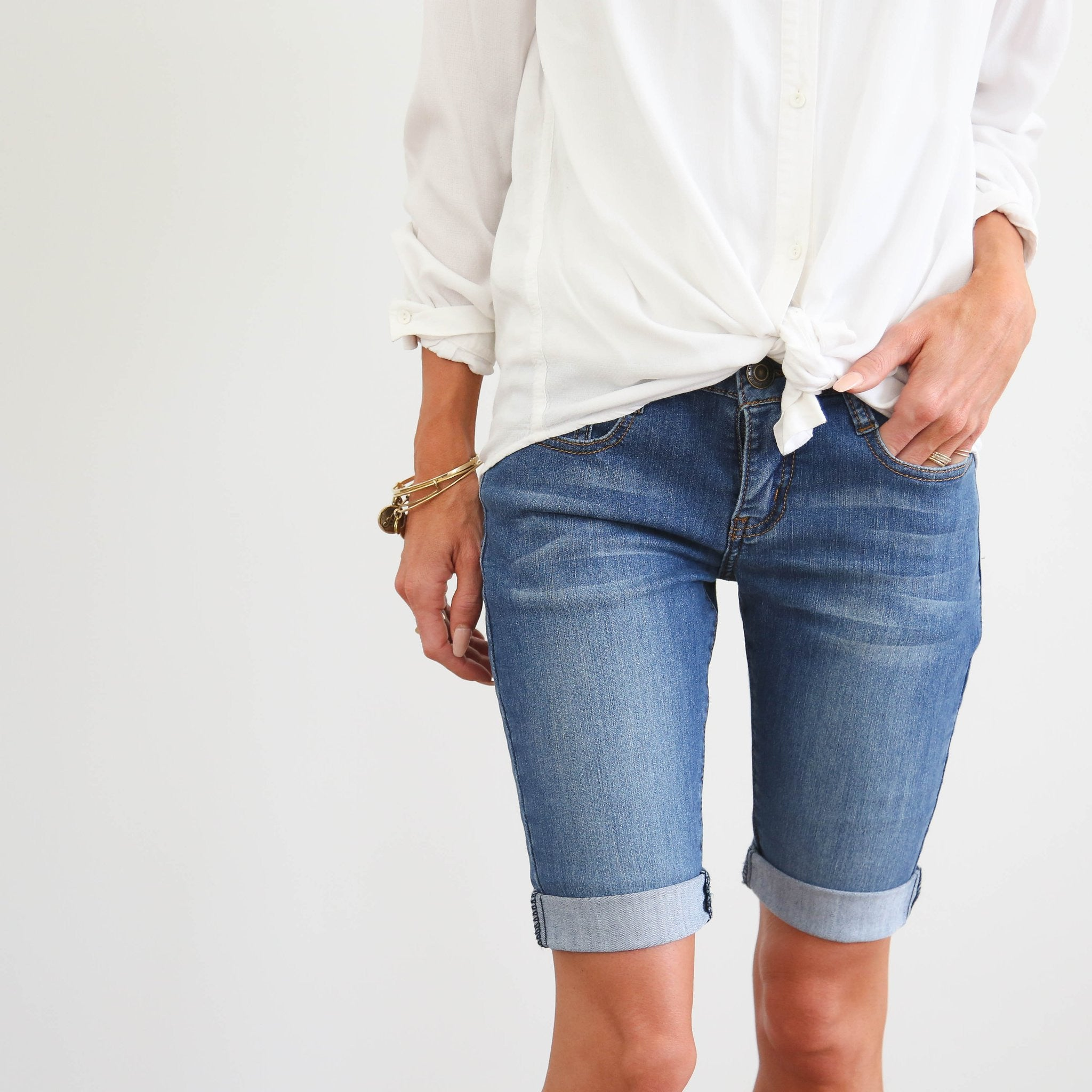 Bingham Denim Shorts
