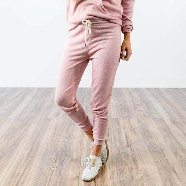 Pant Jogger Set in Blush Pink