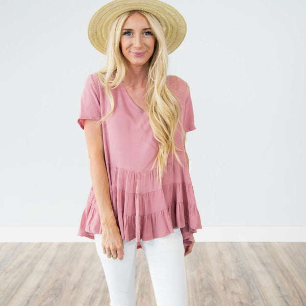 Lissie Top in Blush Rose
