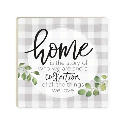 Home Is A Story Coaster