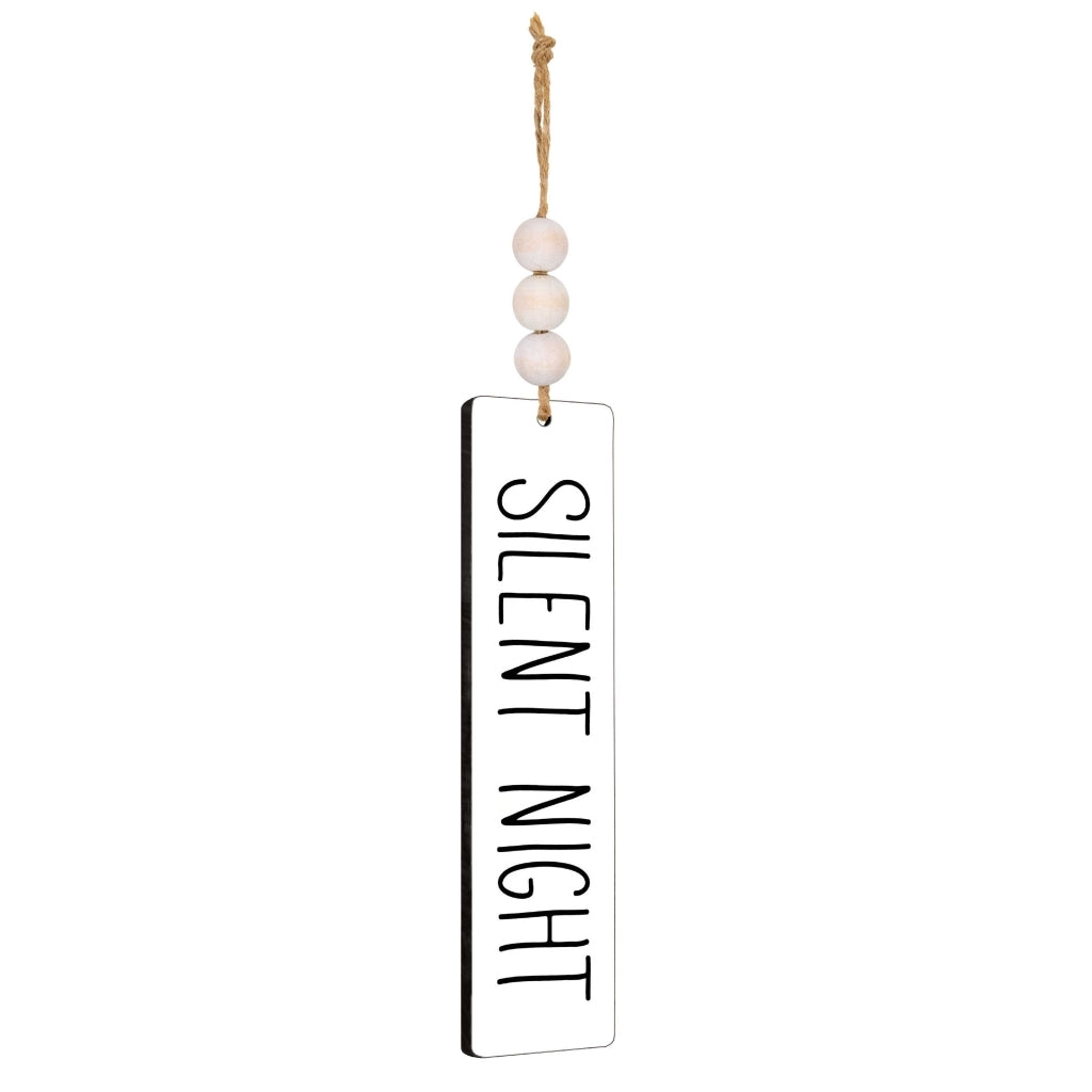 Silent Night Wood & Bead Coaster