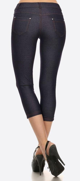 Navy Capri Jeggings