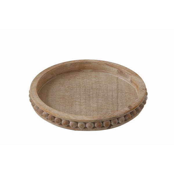 Dottie Wood Round Tray