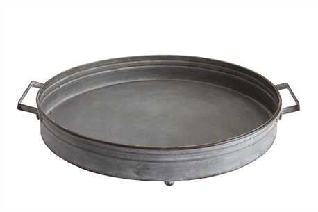 Decorative Iron Tray w/ Handles