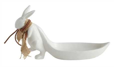 Rabbit Pulling Leaf Dish