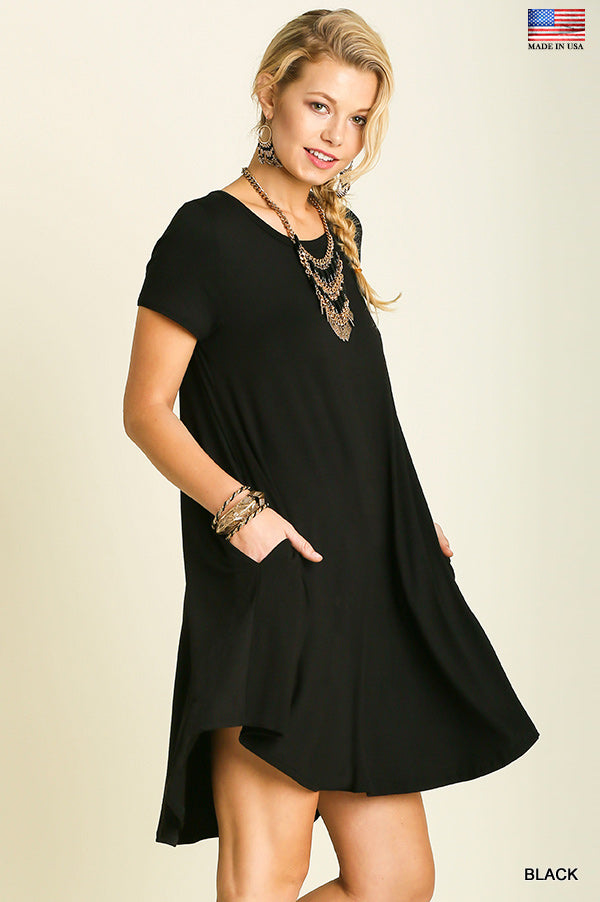 Just For the Day Dress in Black