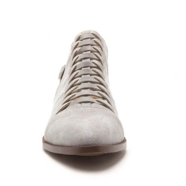 Light Grey Braided Bootie