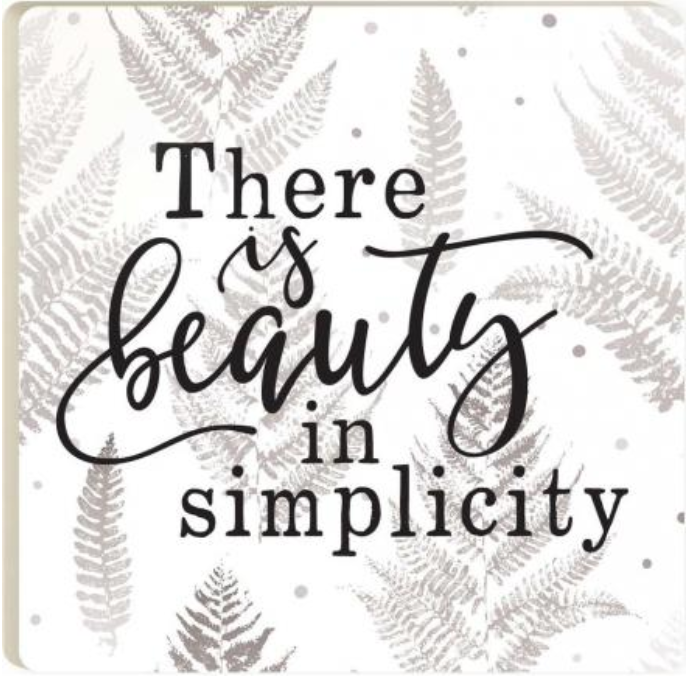 Beauty In Simplicity Coaster