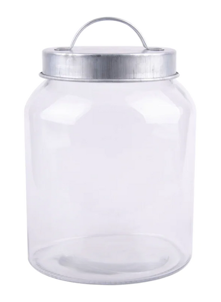 Glass Jar with Galvanized Lid