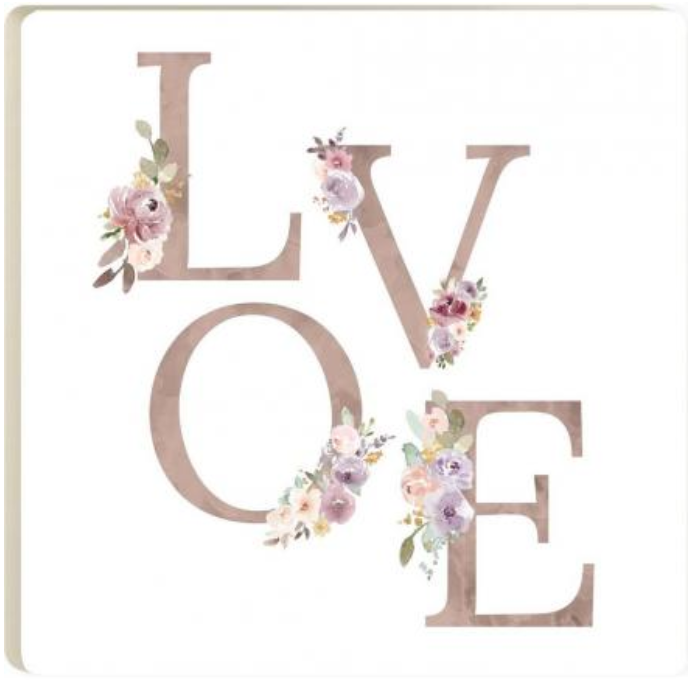 Love Floral Coaster