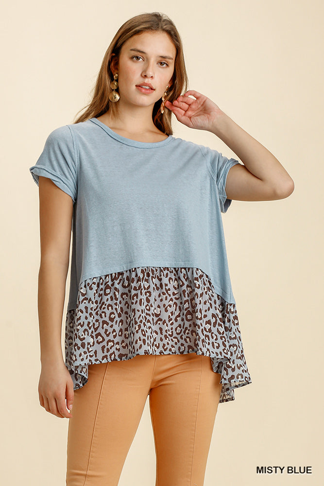 The Wilds Top in Misty Blue