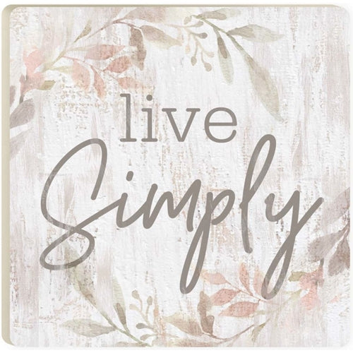 Live Simply Floral Coaster