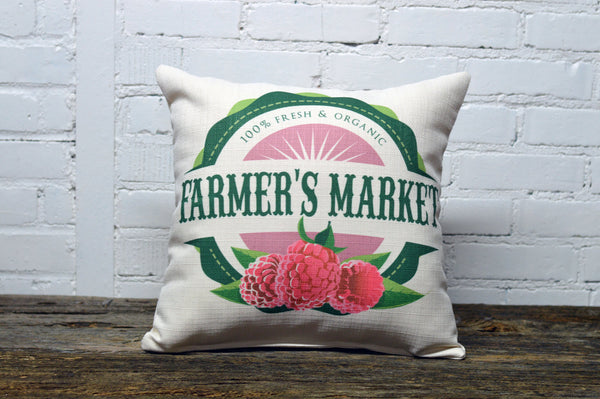 Spring Farmer's Market Pillow