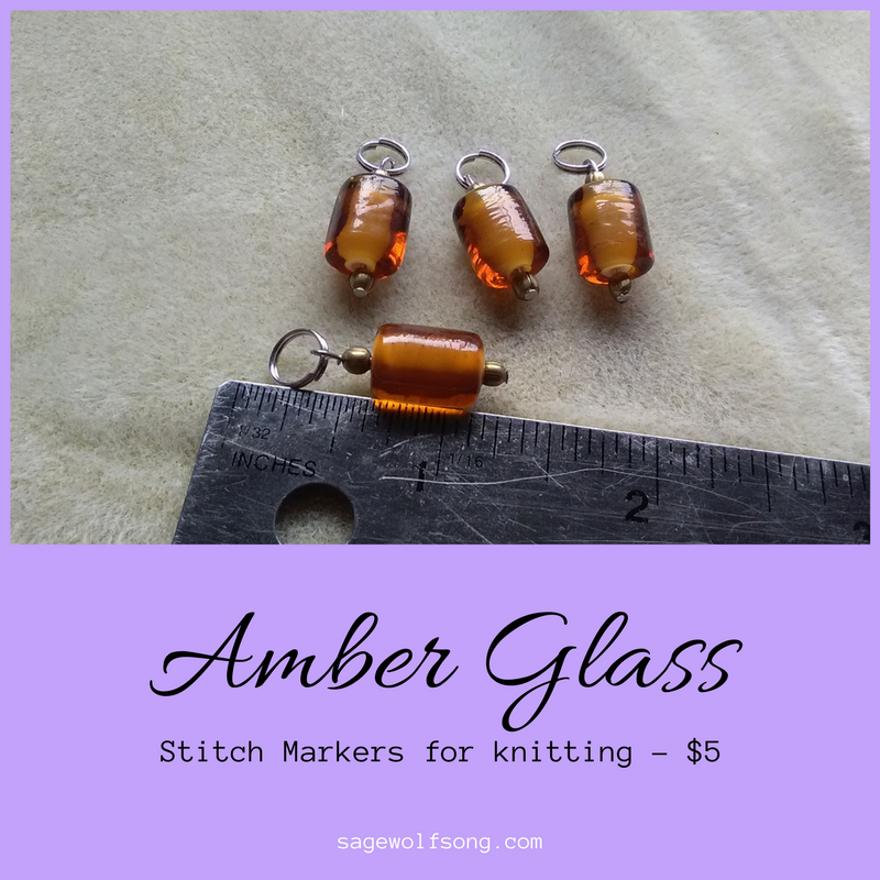 Featured Product: Amber Glass Stitch Markers for Knitting