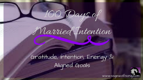 sage wolfsong 100 days of married intentions blog title graphic