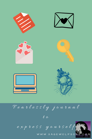 sage wolfsong blog graphic fearlessly journal to express yourself