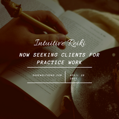 Intuitive Reiki practice seeking clients
