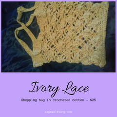 Ivory Lace shopping bag 25 dollars