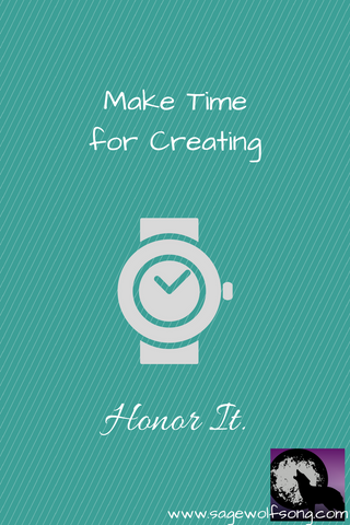 sage wolfsong blog graphic make time for creativity