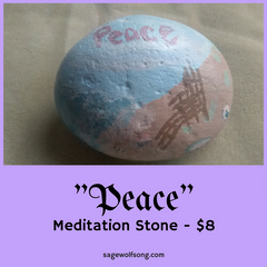 Peace meditation stone featured product sage wolfsong creations