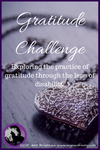 Introduction to the 40 Days of Gratitude series on Sage Wolfsong - looking at gratitude through the lens of disability