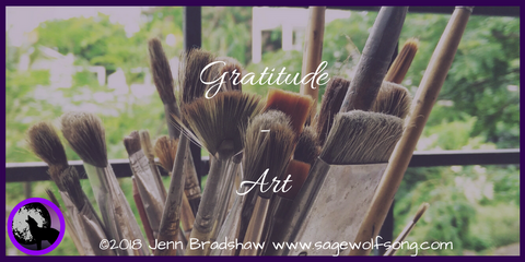 40 Days of Gratitude continues with a post on Art. Being perfectly imperfect and accepting the value and beauty in our flaws.