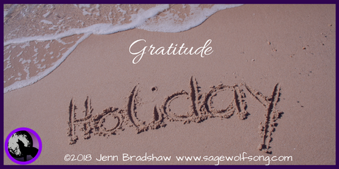 Sage Wolfsong Blog Post - 40 Days of Gratitude - Holiday