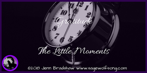 40 Days of Gratitude series post - Moments - How a stressful day transformed into a moment of joy and a reminder of how fleeting life is.