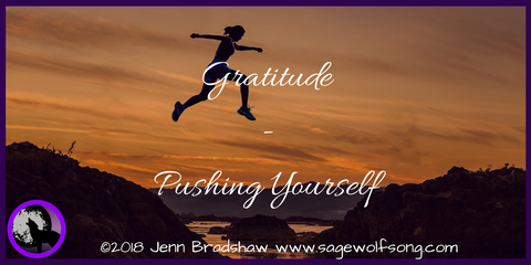 40 Days of Gratitude from the perspective of Chronic Illness & Disability - What is one time you pushed yourself that you are grateful for?
