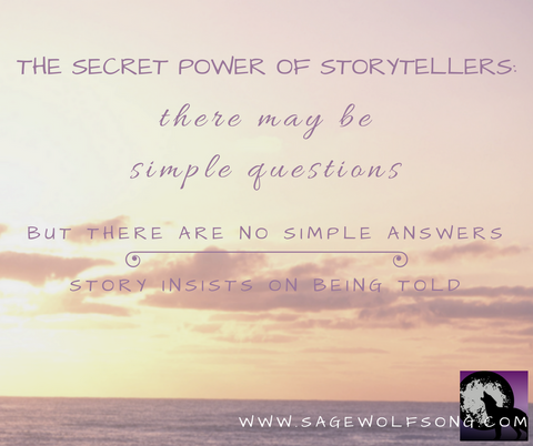 sage wolfsong blog graphic storytellers secret power