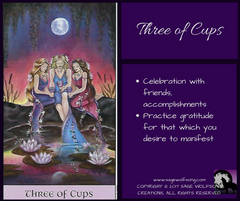 three of cups social media graphic