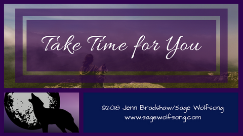 Take Time for You blog title