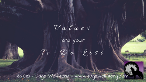 sage wolfsong values and your to-do list blog title graphic