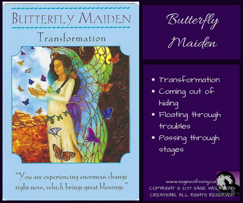 sage wolfsong weekly wisdom blog graphic butterfly maiden