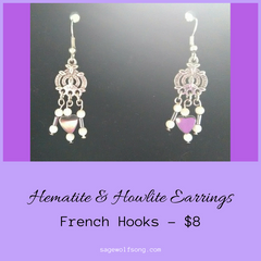 Featured Product Hematite and Howlite earrings