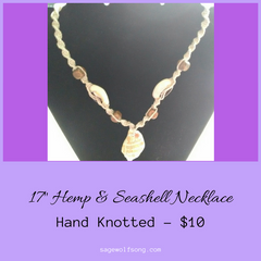 featured product - hemp necklace 10 dollars