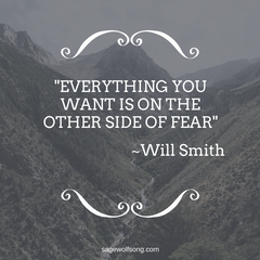 All you want is on the other side of fear -Will Smith